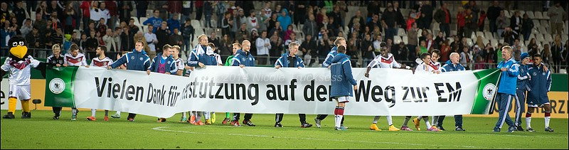 Sie betrachten ein Bild aus dem Artikel: U21: EM-Qualifikation in der Tasche